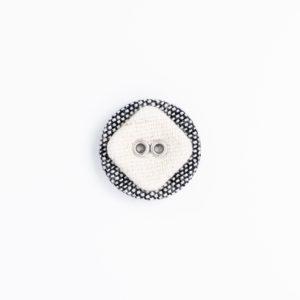 サークル リネン ハトメ 角 くるみボタン 2つ穴