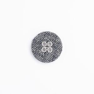 フラットリネン ハトメ 4つ穴 くるみボタン