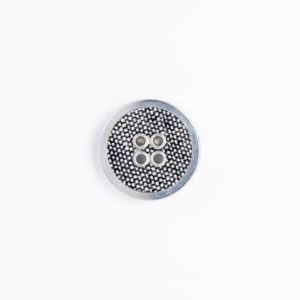 FMフラットリネン ハトメ 4つ穴 くるみボタン