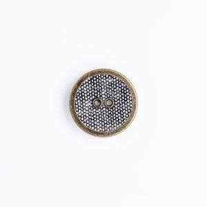 ㎙リネン ハトメ 穴あき リング くるみボタン 2つ穴