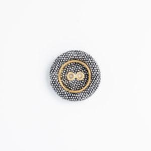 KAリネン ハトメ 穴あき くるみボタン