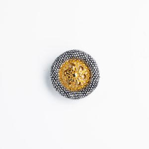 ka-3 くるみボタン ロータス 装飾 金属パーツ