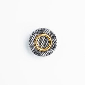 ka-6 リング 装飾 ロータス くるみボタン