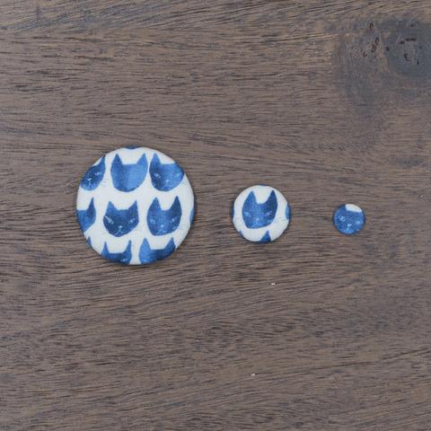 くるみボタン 柄の大きさ比較